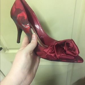 White House Black Market Red high heels size 8